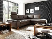 Ledergarnitur Wohnlandschaft Polsterecke Garnitur Couch mit Funktion Echtleder
