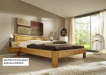 Bett Systembett Schlafzimmer Kiefer massiv gelaugt geölt Überlänge Kopfteil