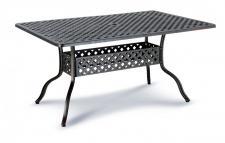 Tisch Gartentisch 150 cm Alu-Guss romantisch bronze weiß Gartenmöbel wetterfest