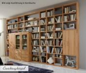 Regal Bücherregal Wohnwand Wildeiche Kernbuche massiv geölt individuell planbar