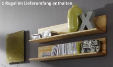 Wandregal Wandboard CD Regal Hängeregal Kernbuche massive gewachst
