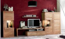 Wohnwand Wohnzimmerwand Wohnzimmer TV Lowboard Highboard Kernbuche massiv