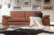 Sofa Couch 2, 5 Sitzer Polstersofa Wohnzimmer Stoffbezug hasel braun