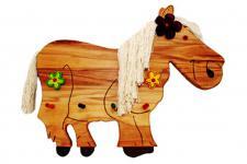 Kindergarderobe Garderobe Kleiderhaken Pferd Garderobenhaken Wandhaken Buche