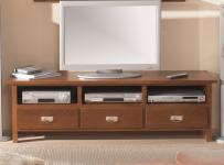 Lowboard TV-Board TV-Tisch Konsole Buche massiv lackiert dunkel