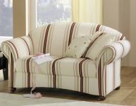 Sofa Couch 2-Sitzer Landhaus gestreift Streifen Muster ländlich romantisch natur