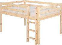 Flexa Classic halbhohes Bett Hochbett Kinderbett Jugendbett Kiefer 140x200 cm