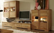 Wohnzimmer Wohnraum Wohnbereich Wohnwand Set Kernbuche massiv geölt