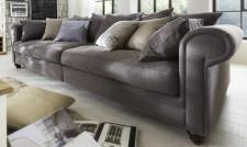 Sofa 4-sitzig Couch Textilsofa Polstersofa romantik Wohnzimmer