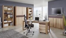 Büro Arbeitszimmer Set Kernbuche massiv geölt made in Germany Lack braun