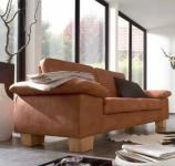 Sofa Couch 2, 5 Sitzer Large Textilsofa Wohnzimmer Stoffbezug hasel braun