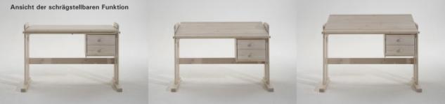 Schreibtisch Kinder-Schreibtisch Kiefer massiv schräg höhenverstellbar