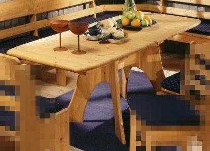 Esstisch Tisch Auszug Einlageplatte Verlängerungsplatte Kiefer massiv