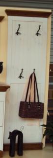 Garderobenpaneel Wandgarderobe Garderobenmöbel Kiefer massiv