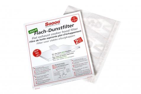 Soooo Flach-Dunsthaubenfilter für Abluftfilter, 2er Sparpaket
