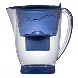 """Aqua Select Tischwasserfilter """"Whale"""" blau für Multimax+ Patronen mit LCD-Anzeige"""