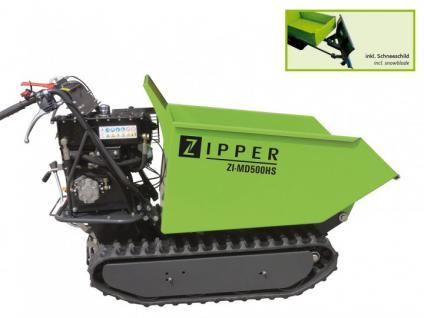 Zipper Miniraupendumper ZI-MD500HS, Motorschubkarre, Dumper, Mini Dumper - Vorschau