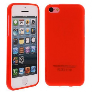 Silikon Case für Apple iPhone 5C Rot Etui Cover Bumper Tasche