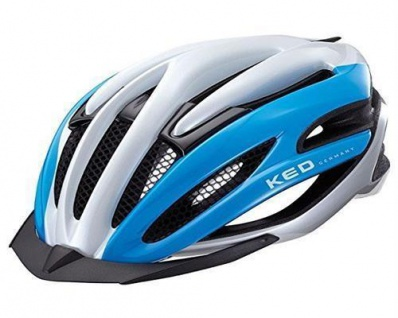 KED Fahrradhelm Wayron Visor, M(55-59cm), Blue White, maxSHELL, Made in Germany