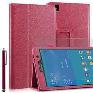 """Faltbare Tablet Tasche für Samsung Galaxy NOTE PRO T320 Pink 7"""" inkl Stift+Folie"""