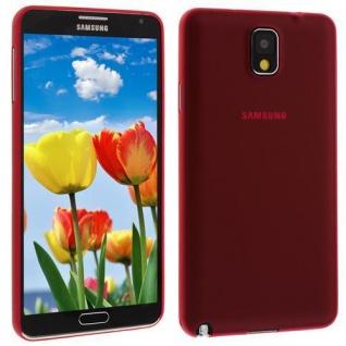 Für Samsung Galaxy Note 3 ROT Slim TPU Case Cover Hülle Schale Schutzhülle NEU!