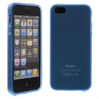 Silikon Case für Apple iPhone 5 SE, 5C, 5S Blau Etui Cover Bumper Neu!