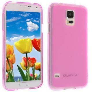 Für Samsung S5 i9600 Rosa Slim Silicon Case Cover Hülle Schale Schutzhülle NEU!!