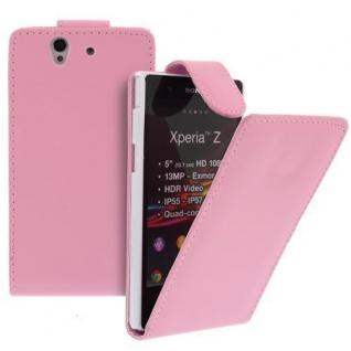 Für Sony Xperia Z Handy Flip Case Tasche Hülle Schutz Pink