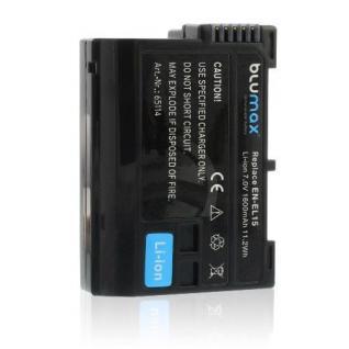 Akku accu battery für Nikon EN-EL15; EN-EL15A; EN-EL15E; 1 V1; D500; D600 blumax
