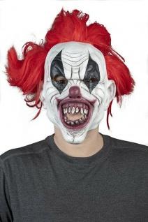 MKS Halloween Maske Kopf Über Verrükter Clown Latex - Schön schaurig & gruselig