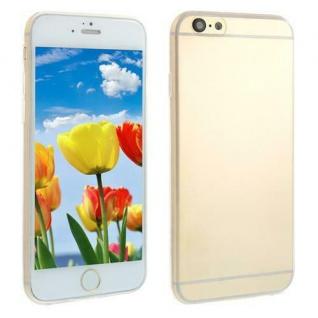 Silikon Case für Apple iPhone 6 - Transparent Weiß -Cover Bumper Tasche Etui NEU