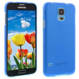 Für Samsung S5 i9600 BLAU Slim TPU Case Cover Hülle Schale Schutzhülle Dünn NEU!