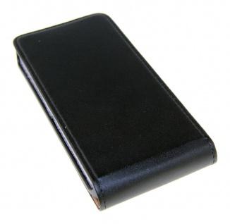 Flip Case für HTC M8 Mini Schwarz - Smartphonetasche Handytasche Case Cover NEU
