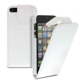 Für Apple iPhone SE 5 Handy Flip Case Tasche Hülle Schutz Weiss Tasche
