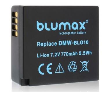 Akku accu battery für Panasonic DMW-BLG10E, DMW-BLE9; Leica BP-DC15 blumax neu