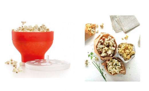 Lékué Popcornmaker Mikrowellenpopcorn Popcornzubereiter inkl.500g Seeberger Mais - Vorschau 4