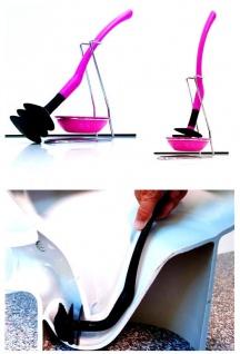 Mr.Sanitär spez. Toilettenbürste Klobürste WC-Garnitur Pink Silikonfrei Biegsam