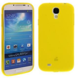 Silikon Case für Samsung Galaxy S4 / i9500 Gelb Etui Cover Bumper Schutz Neu