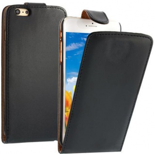 Flip Case für Apple iPhone 6 PLUS Schwarz Handytasche Smartphonetasche Etui NEU!