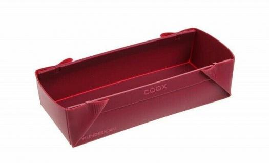 COOX Wunderform M - 25x9x6, 5 cm dunkelrot Silikon - Backform Kuchenform Brotform