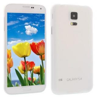 Für Samsung S5 i9600 Weiß Slim TPU Case Cover Hülle Schale Schutzhülle Dünn! NEU