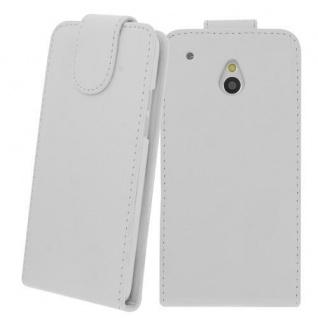 Für HTC One M4 MINI WEIß - Kunstleder Tasche, Handytasche, Case, Hülle, Cover, N