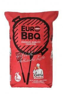 EuroBBQ Premium Qualität Profi-Holzkohle 5 kg aus Marabu, lange Brenndauer