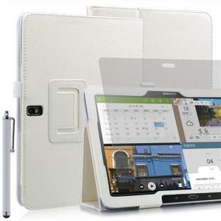 """Faltbare Tablet Tasche für Samsung Galaxy NOTE PRO T520 Weiß 10, 1"""" +Stift +Folie"""