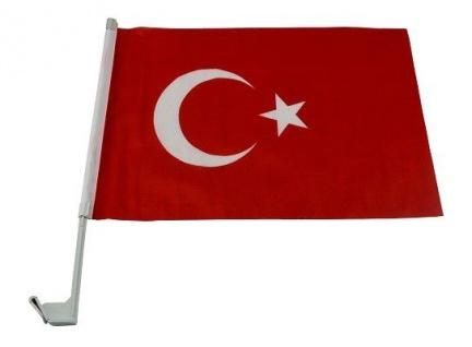 Türkeiflagge/ -fahne 43cm x 30cm mit Klipper zum einfachen Hissen