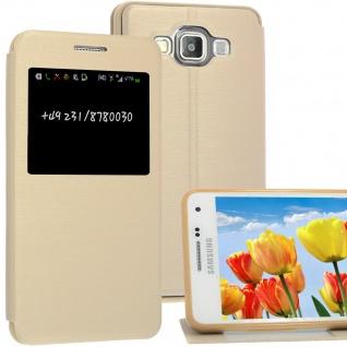 Bookstyle Wallet Case für Samsung Galaxy A5 Gold Handy-Smartphonetasche !NEU!