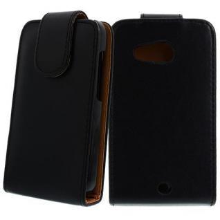 Für HTC Desire D200 Schwarz Handytasche Case Hülle Cover Etui Schutz Kunstleder