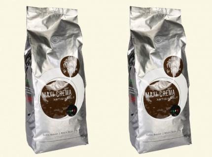 Mauri&Peppe Maxi Crema 2x 1000g Café Crème Kaffebohnen - Kaffee Coffee Kahve NEU