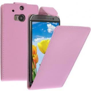 Flip Case Handytasche für HTC M8 in Pink - Smartphonetasche Case Cover Tasche
