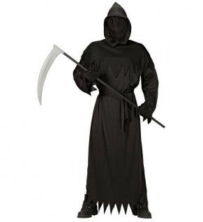 Halloween Halloweenverkleidung Fasching Partykostüm Sensenmann Reaper Gr. S 48